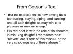 from gosson s text