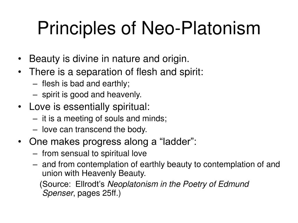 Principles of Neo-Platonism