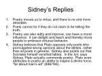 sidney s replies