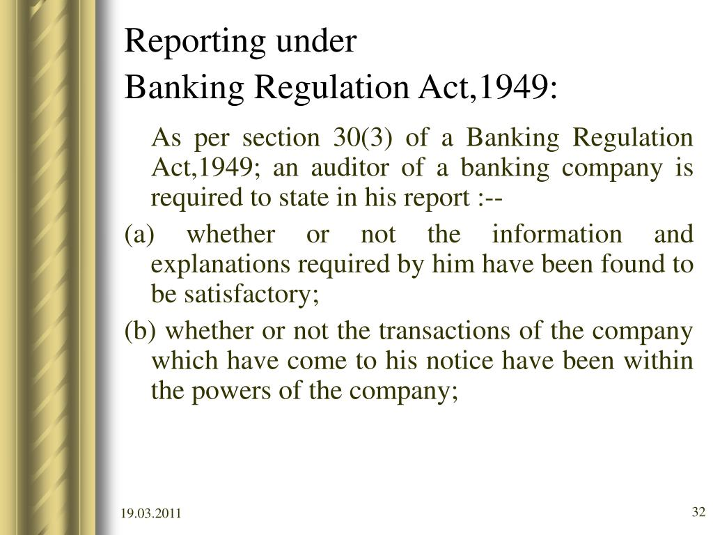 form a of banking regulation act