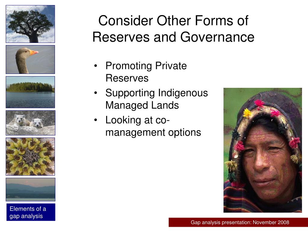 Consider Other Forms of Reserves and Governance
