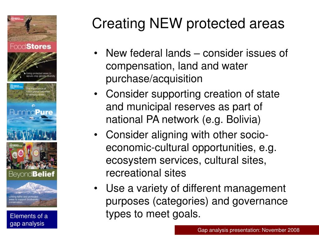 Creating NEW protected areas