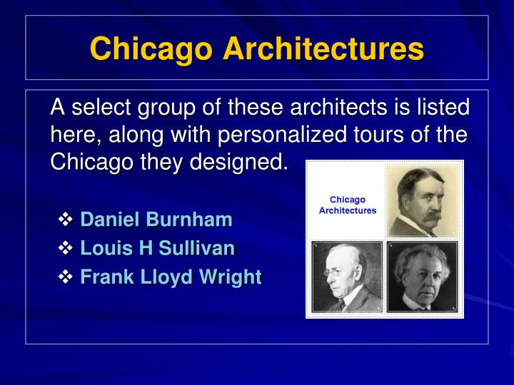 Chicago architectures