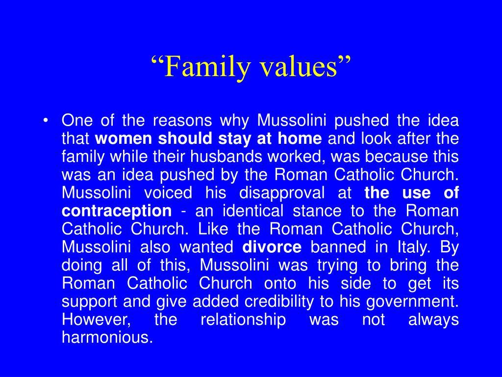 """""""Family values"""""""