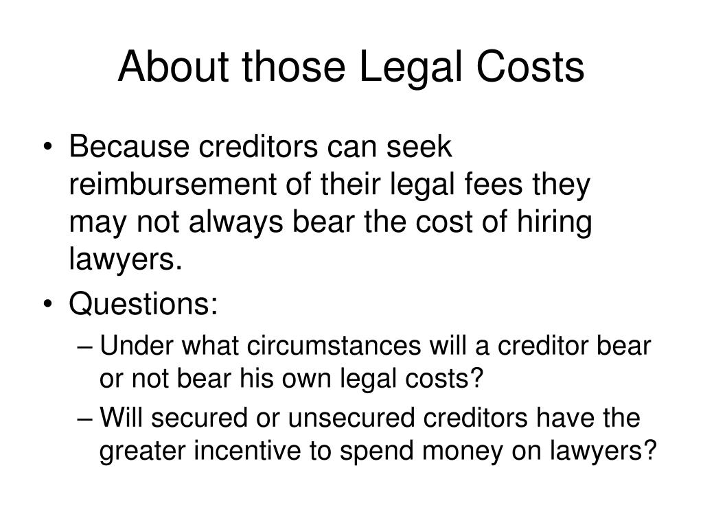 About those Legal Costs