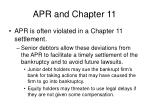 apr and chapter 11