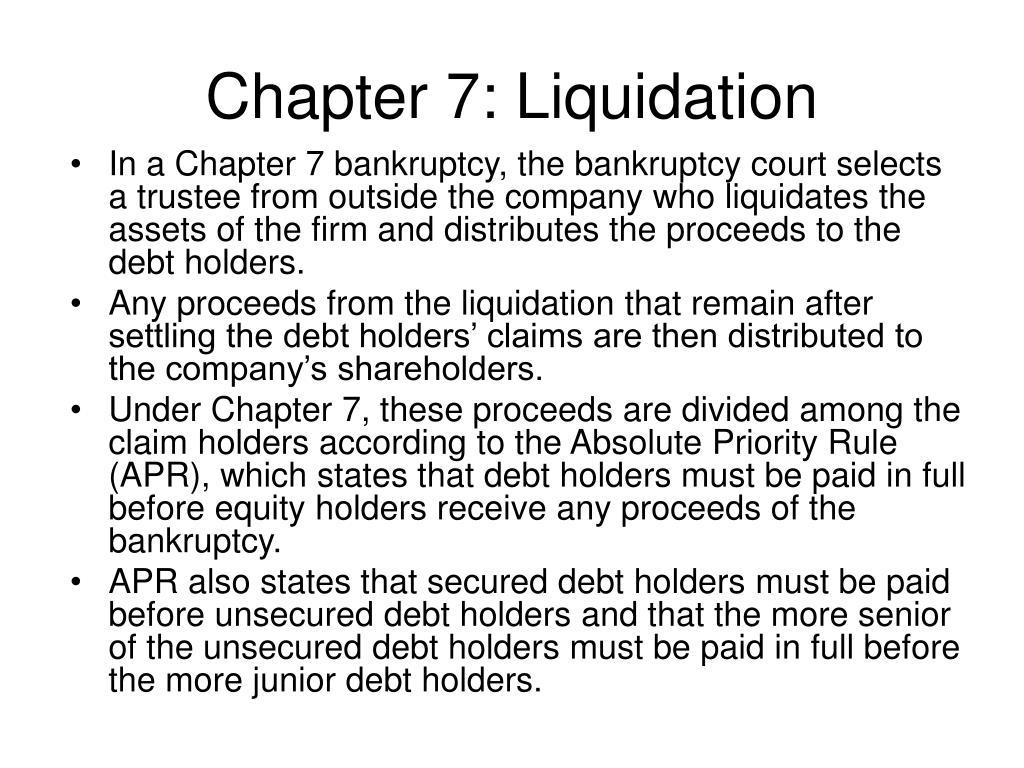 Chapter 7: Liquidation