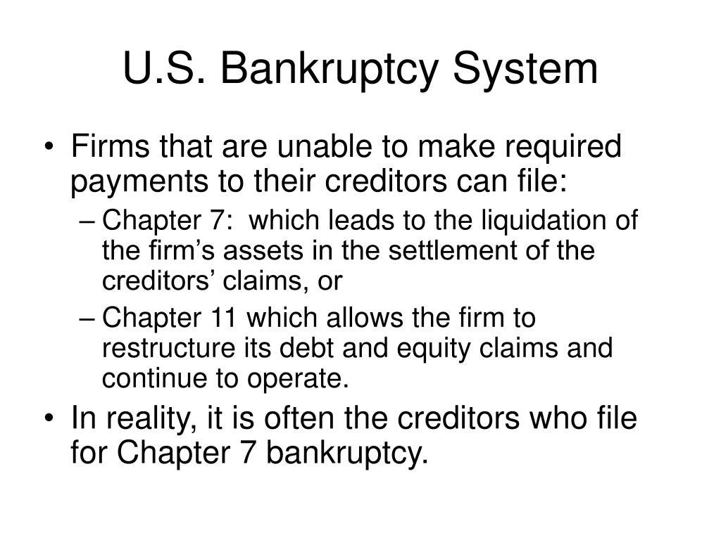 U.S. Bankruptcy System