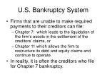 u s bankruptcy system