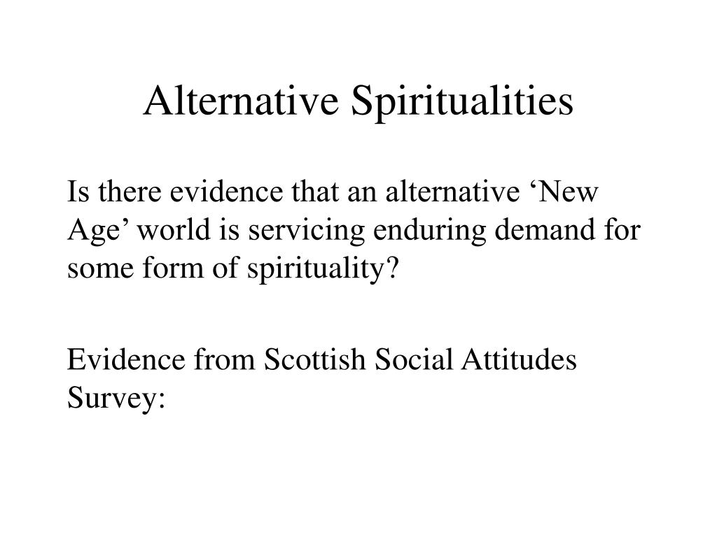 Alternative Spiritualities