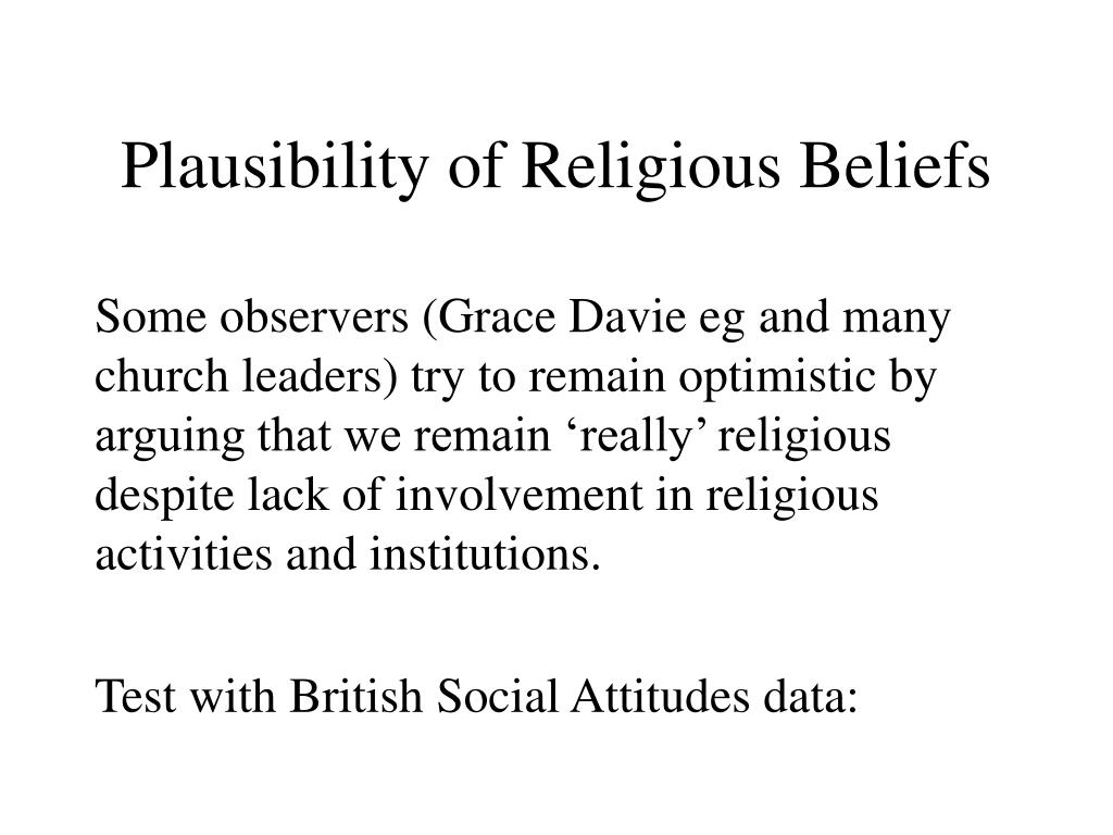 Plausibility of Religious Beliefs