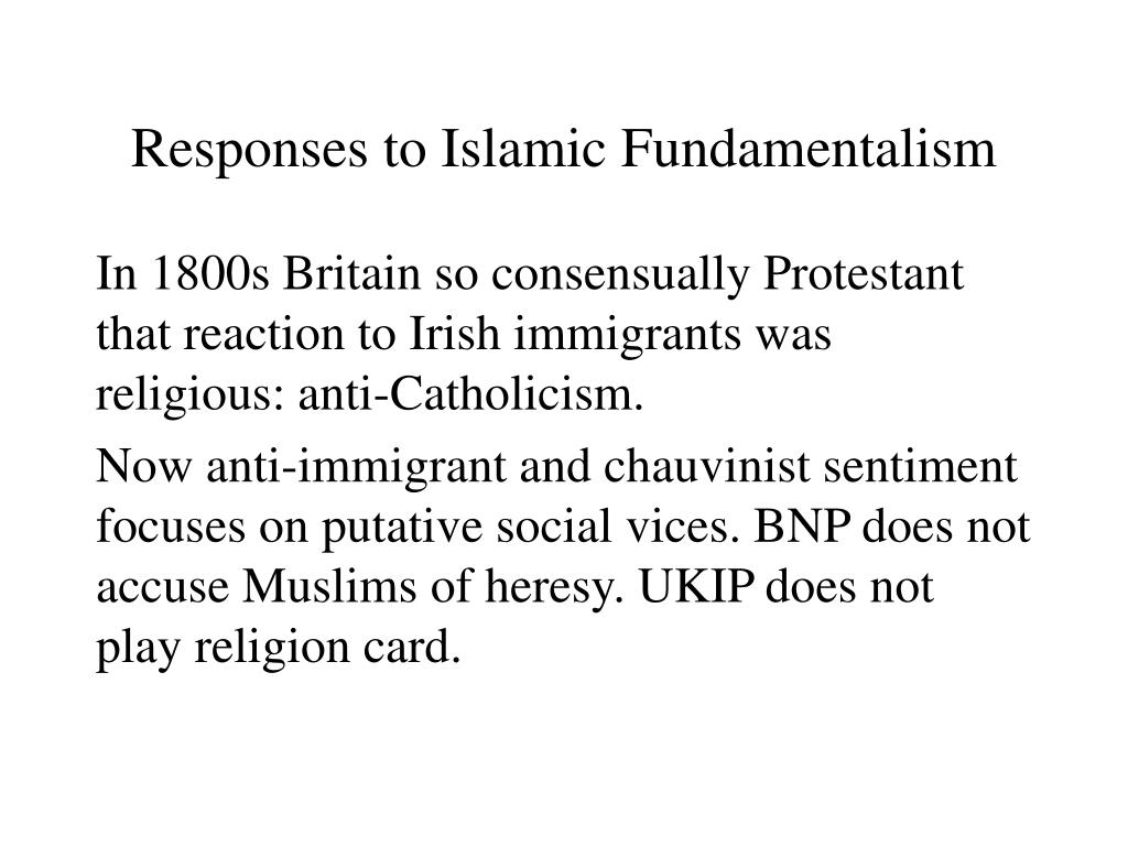 Responses to Islamic Fundamentalism