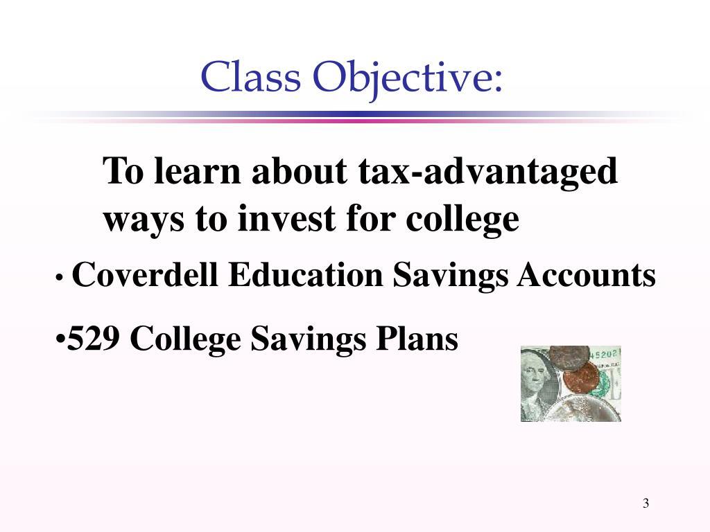 Class Objective: