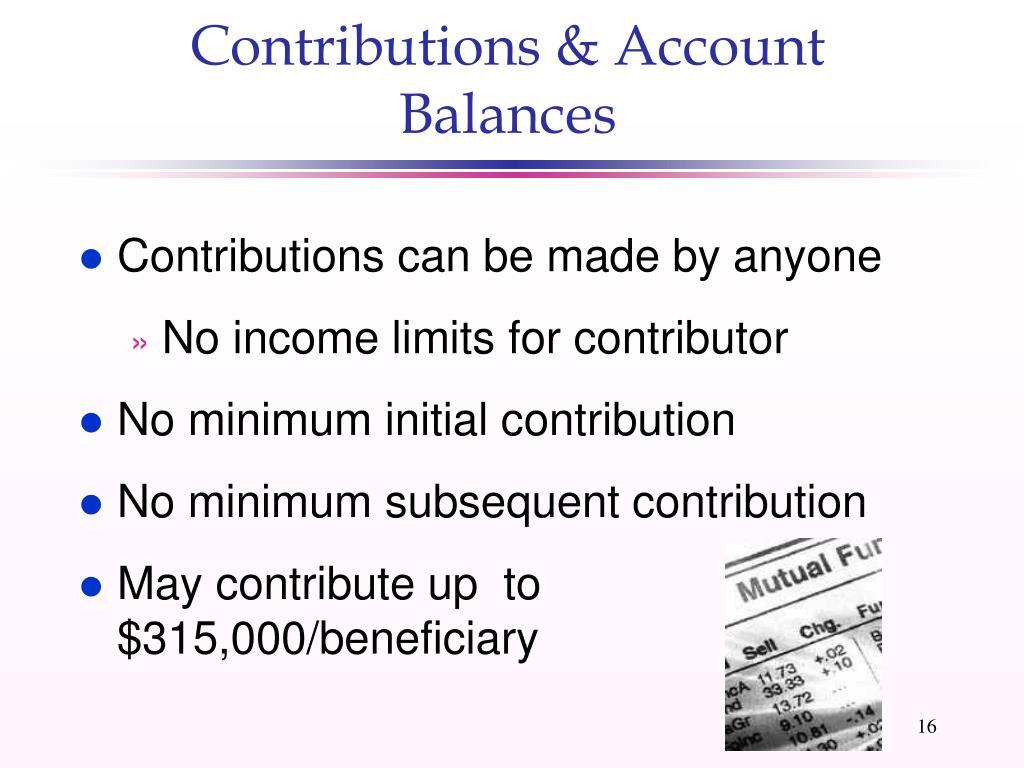 Contributions & Account Balances