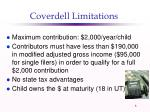 coverdell limitations
