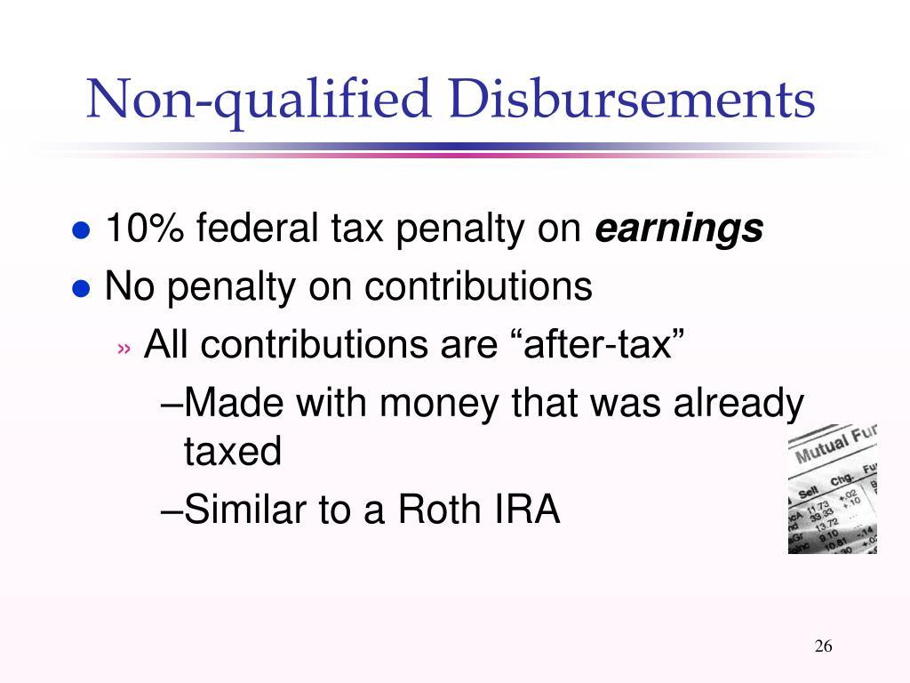 Non-qualified Disbursements