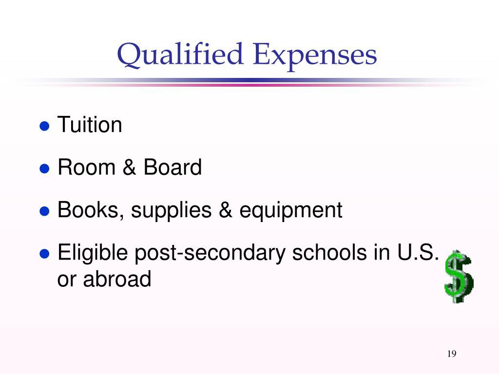 Qualified Expenses