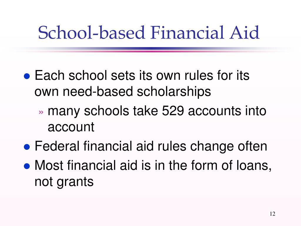 School-based Financial Aid