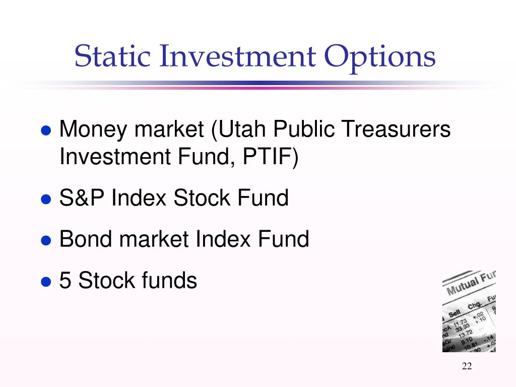 Static Investment Options
