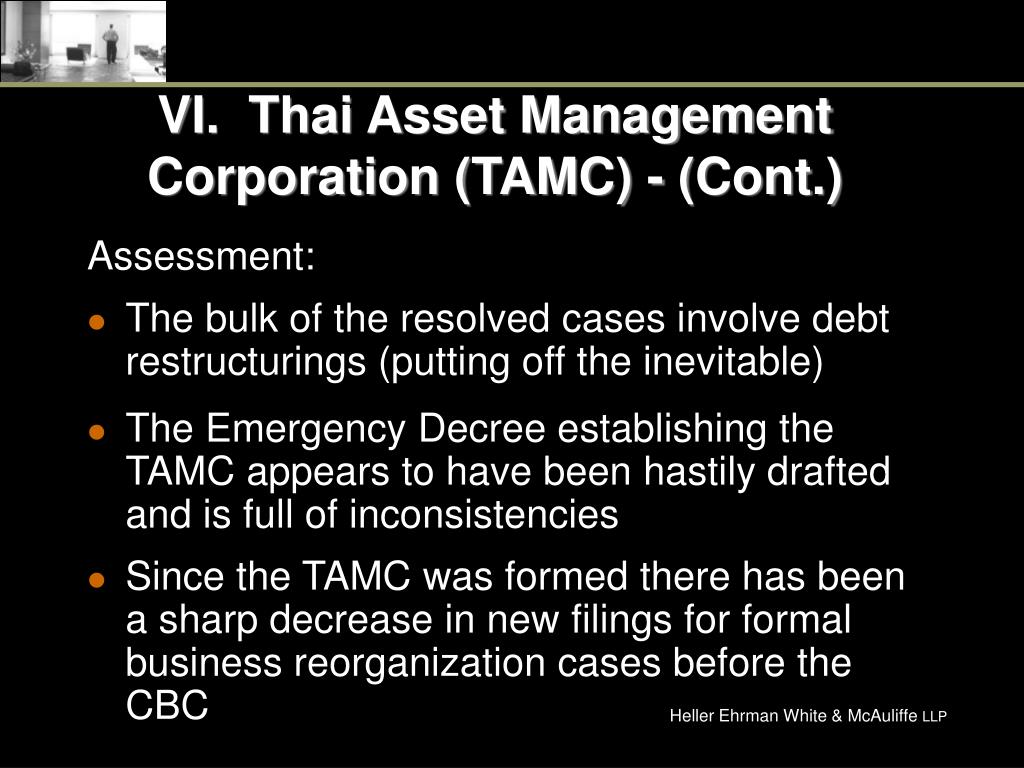 VI.  Thai Asset Management Corporation (TAMC) - (Cont.)