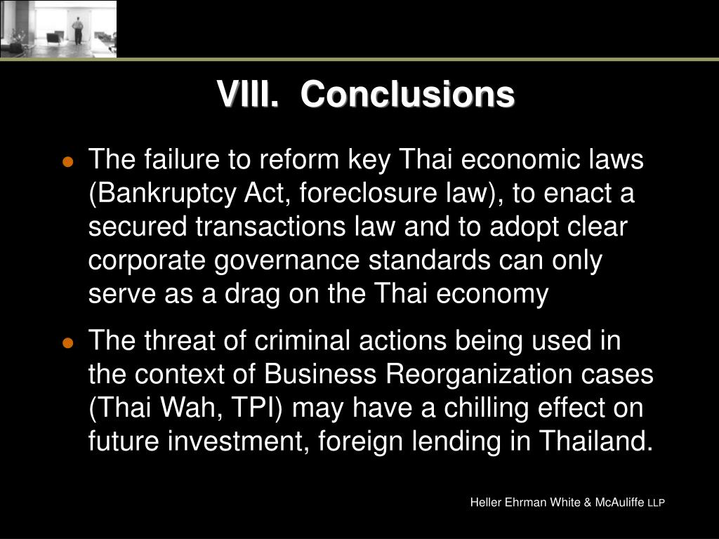 VIII.  Conclusions