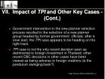 vii impact of tpi and other key cases cont