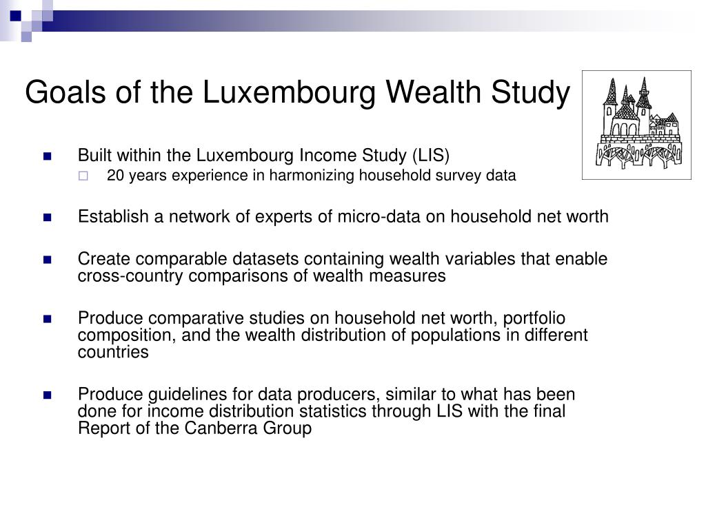 Goals of the Luxembourg Wealth Study