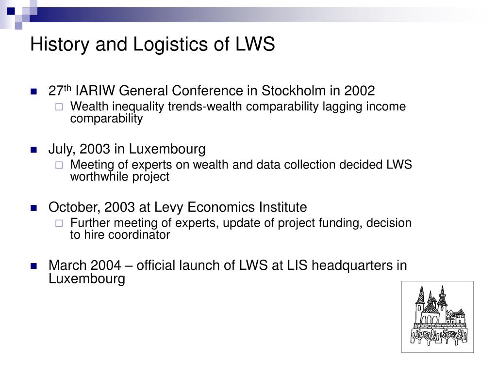 History and Logistics of LWS