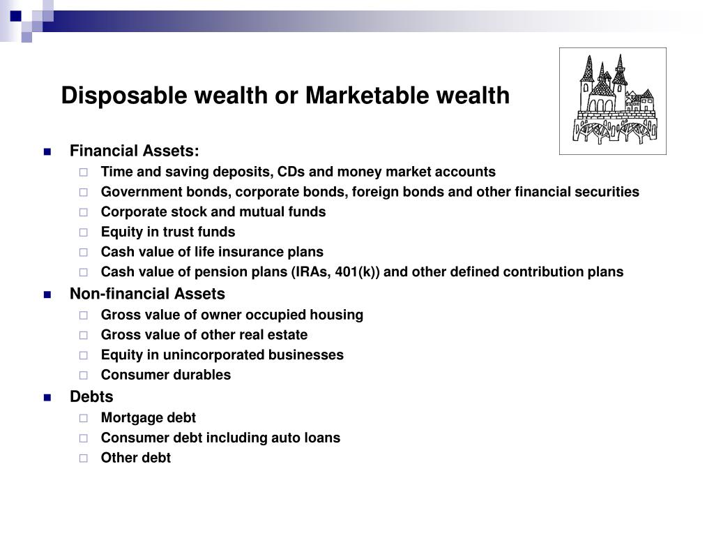 Disposable wealth or Marketable wealth