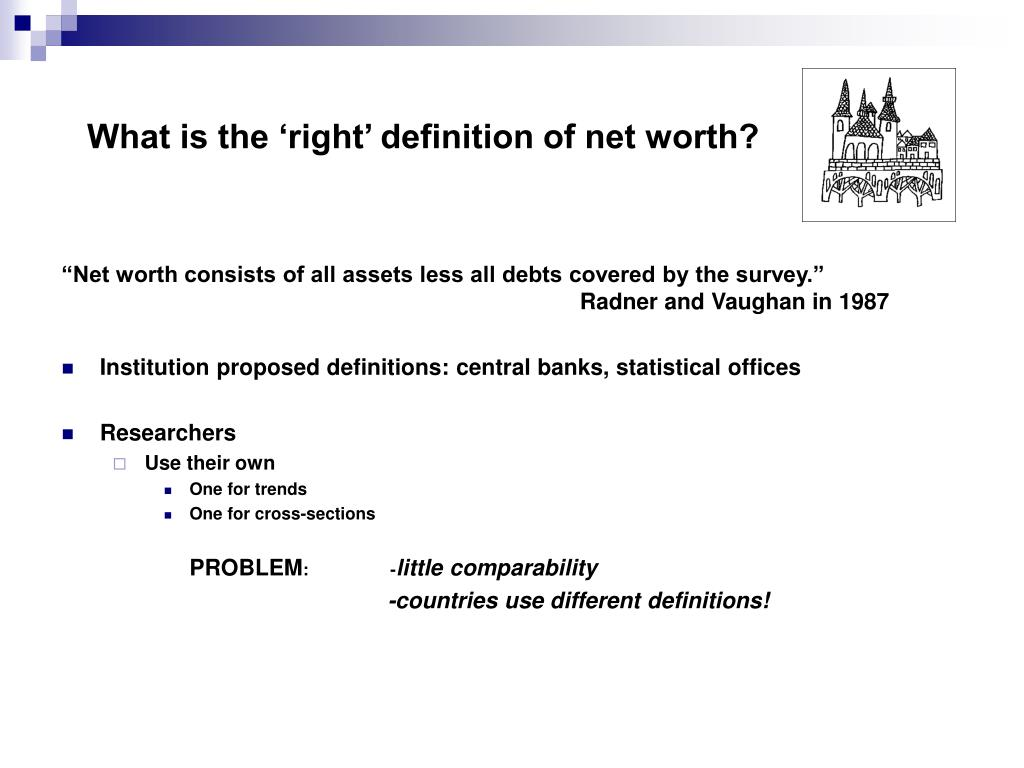 What is the 'right' definition of net worth?