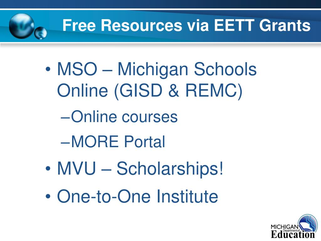 Free Resources via EETT Grants