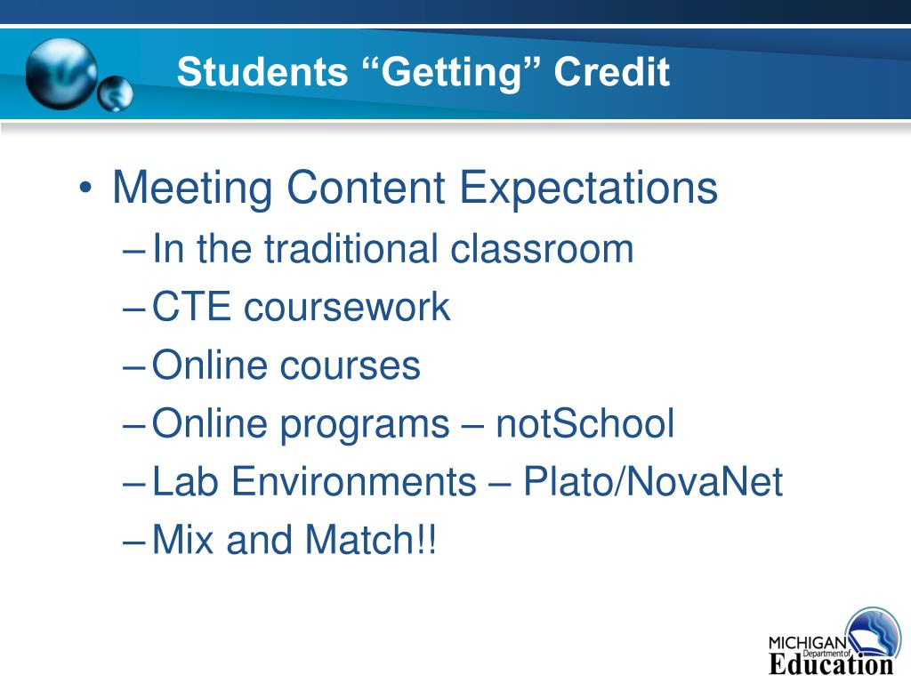 "Students ""Getting"" Credit"