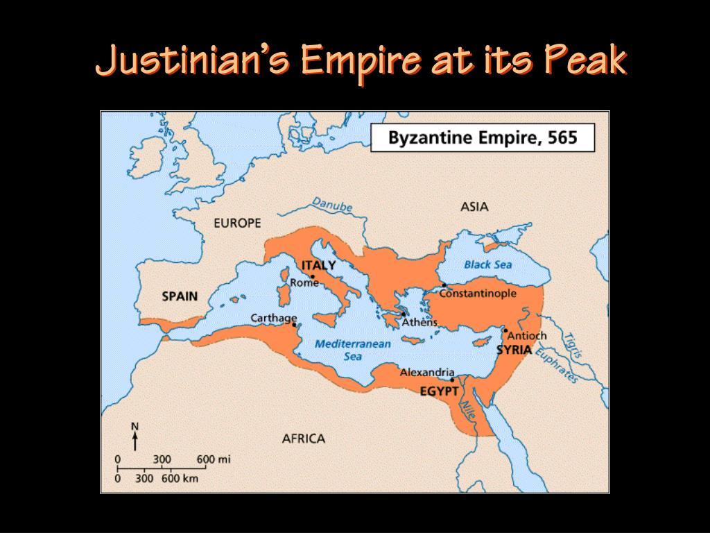 Justinian's Empire at its Peak