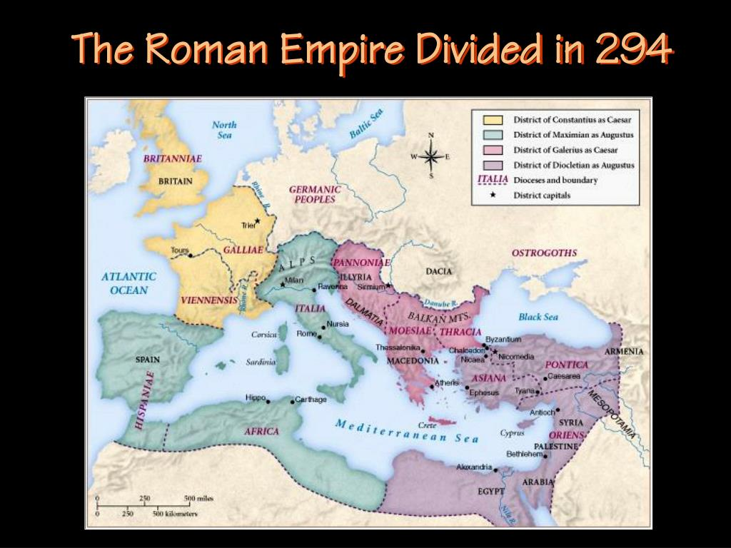 The Roman Empire Divided in 294