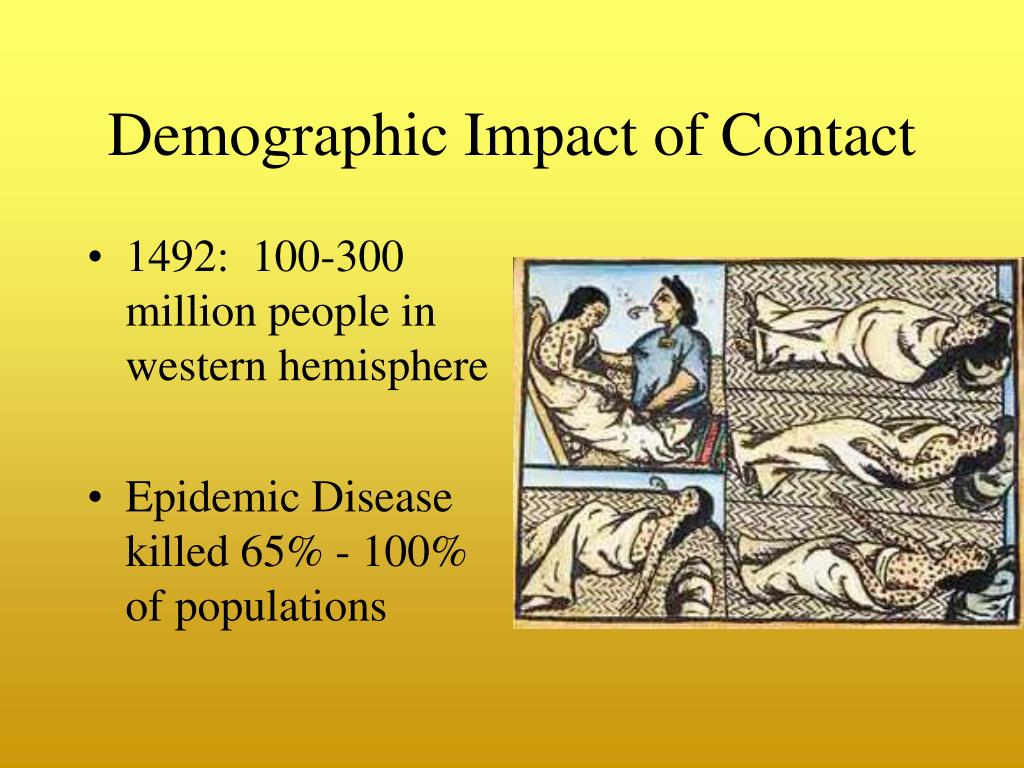 Demographic Impact of Contact