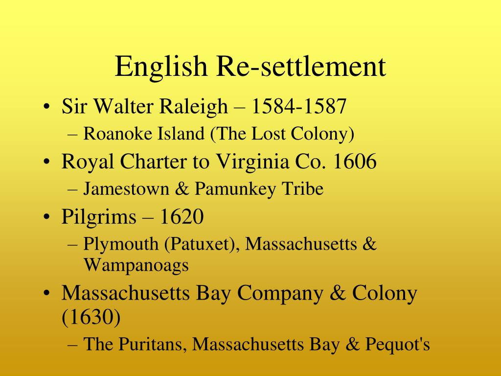 English Re-settlement