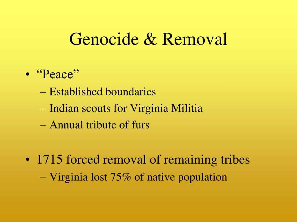 Genocide & Removal