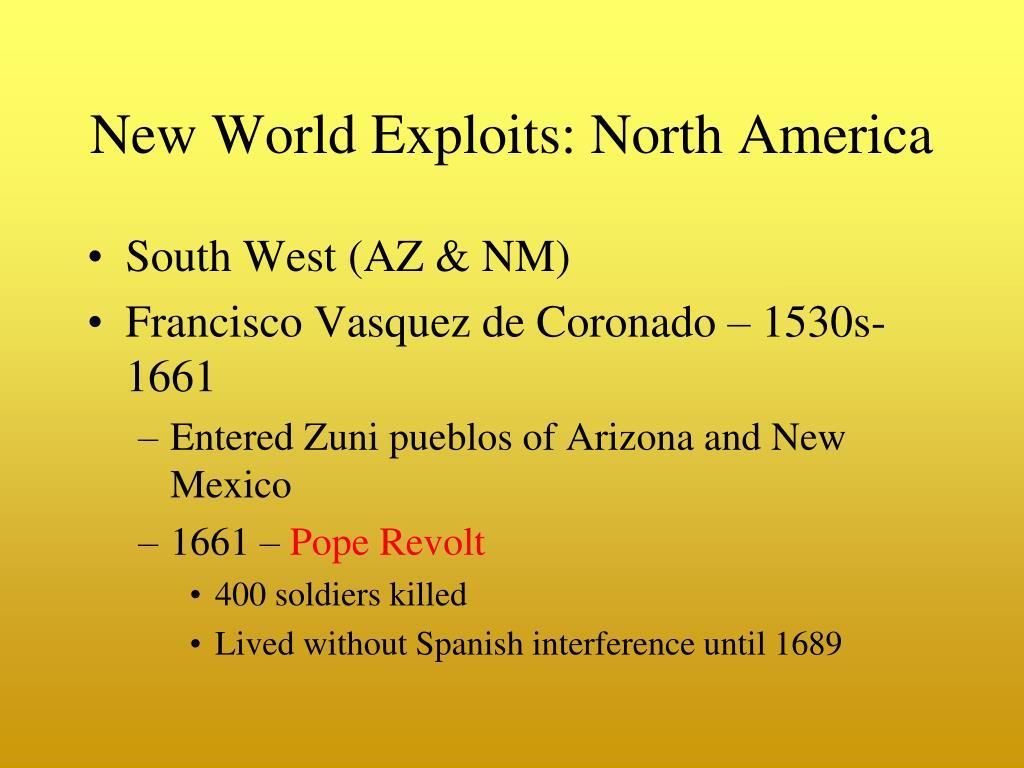 New World Exploits: North America