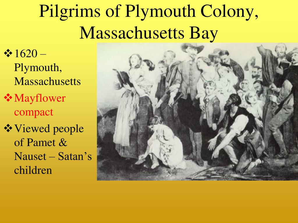 Pilgrims of Plymouth Colony, Massachusetts Bay