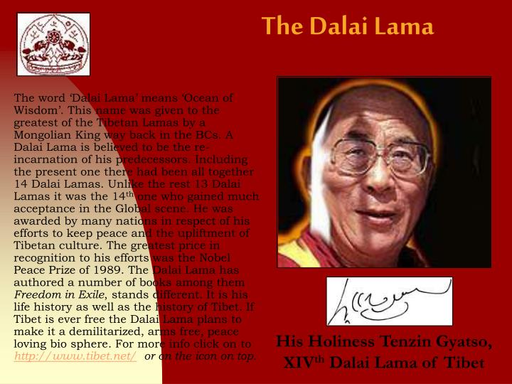 the dalai lamas government in exile essay Free essay: the dalai lama's government in exile soft policies on tough politics if i had to ask the dalai lama one question concerning the behalf of his.