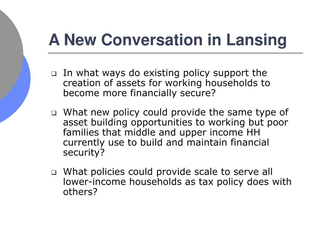 A New Conversation in Lansing