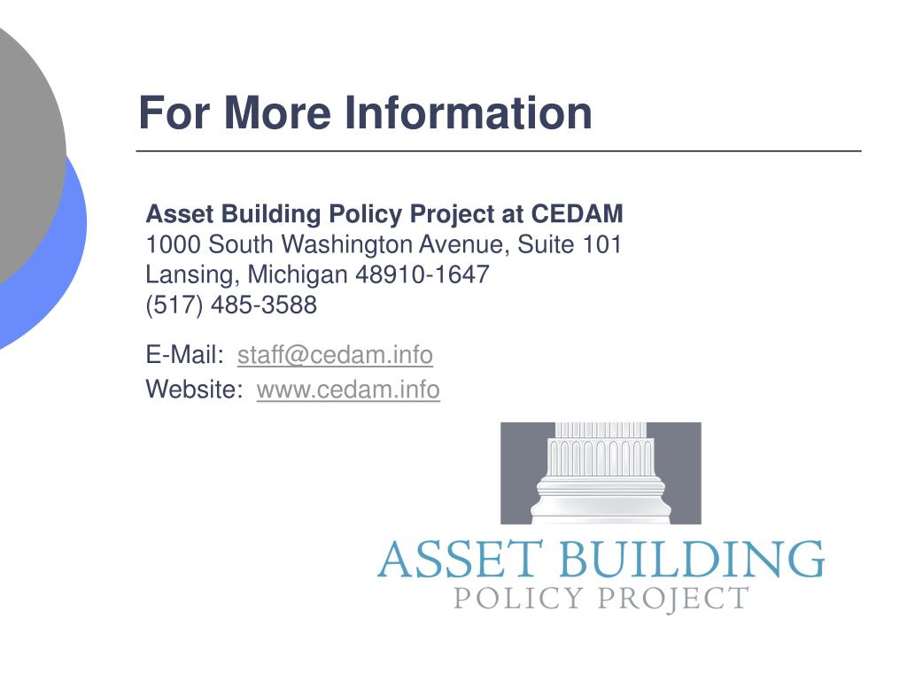 Asset Building Policy Project at CEDAM