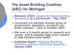 the asset building coalition abc for michigan