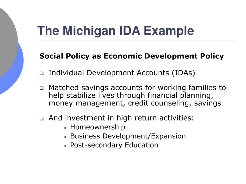 The Michigan IDA Example