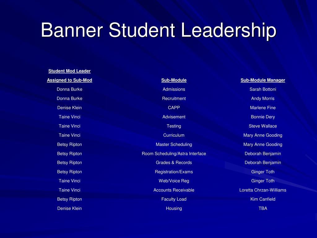 Banner Student Leadership