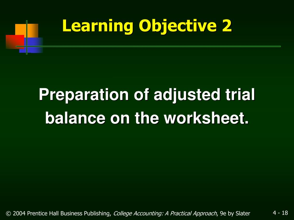 Preparation of adjusted trial