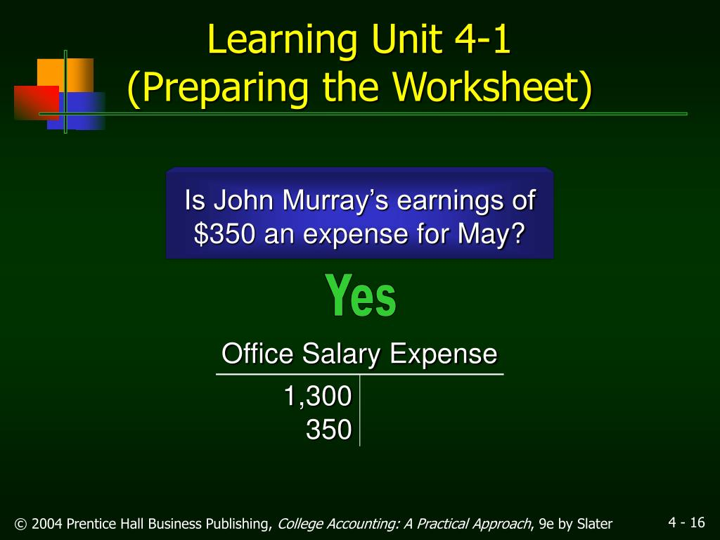 Office Salary Expense