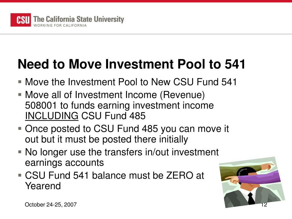 Need to Move Investment Pool to 541