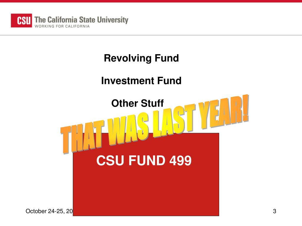 Revolving Fund