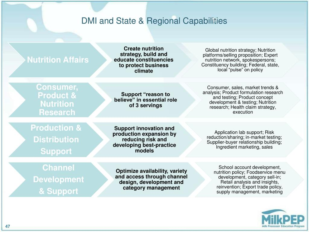 DMI and State & Regional Capabilities
